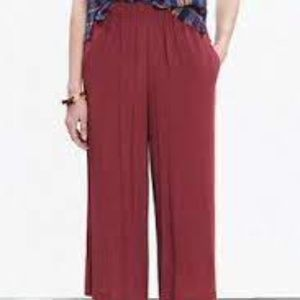 Madewell Clemente Wide Leg Crop Pants
